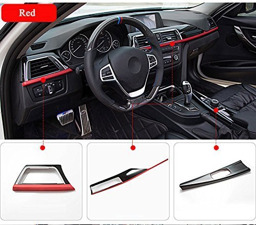 METYOUCAR for Left Hand Drive ABS Center Console Decoration Panel Cover Trim for BMW 3 4 Series f30 f34 GT 316i 320li 2013-2017 (red Edge)