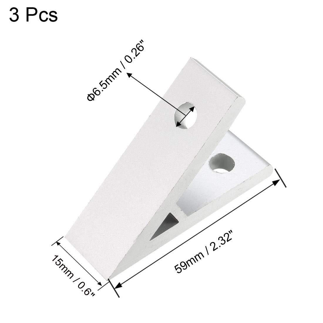 2020 Aluminum Corner Brackets Profile Corner Joint connectors Corner Braces 3 Pieces 45 Degree Angle