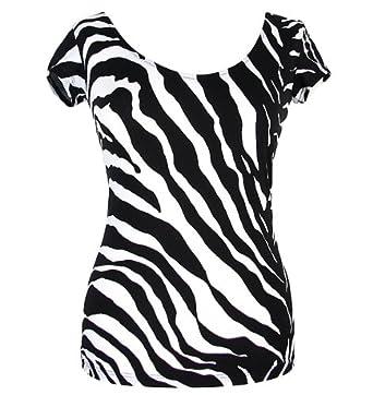 Dolce   Gabbana D G Everyday Animal Zebra 1O Damen T-Shirt Zebra Muster  (Schwarz 61429933c5
