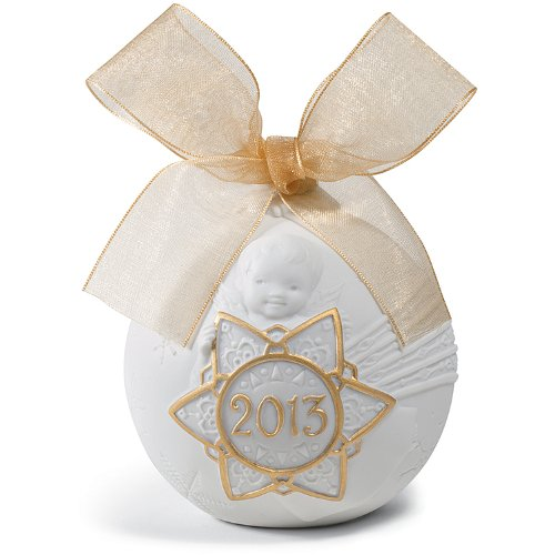 Lladro 2013 Christmas Ball Ornament Gold (Re-Deco) by Lladro