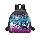 Women Teen Girls Glitter Reversible Sequins School College Backpacks Rucksack Shoulder Bag Purse Travel Satchel (Purple)