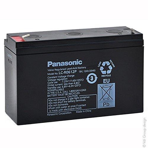 Panasonic - SLA Battery PANASONIC LC-R0612P 6V 12Ah F4.8