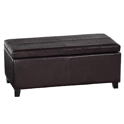 Stupendous Ottoman Viscologic Flip Lift Top Faux Leather Storage Ottoman Bench Dark Brown Unemploymentrelief Wooden Chair Designs For Living Room Unemploymentrelieforg