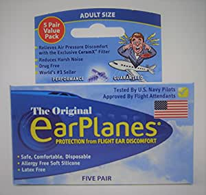 Original EarPlanes Adult 5 Pack
