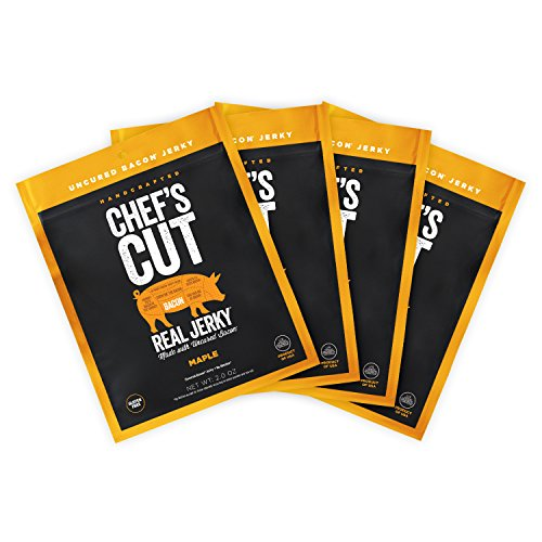 Chefs Cut Real Bacon Jerky   Maple   4 Count   2 oz