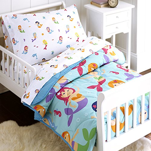 Wildkin 4 Piece Toddler Bed-in-A-Bag, 100% Microfiber Bedding Set, Includes Comforter, Flat Sheet, Fitted Sheet, and Pillowcase, Coordinates with Other Room Décor, Olive Kids Design - -