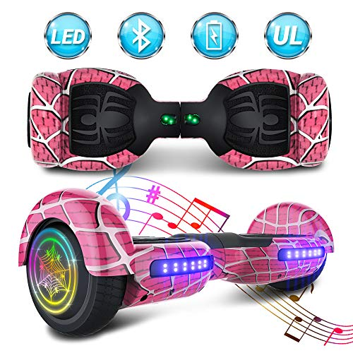 NHT Spider Self Balancing Scooter Electric Hoverboard Bluetooth Speaker LED Lights Safety Certified