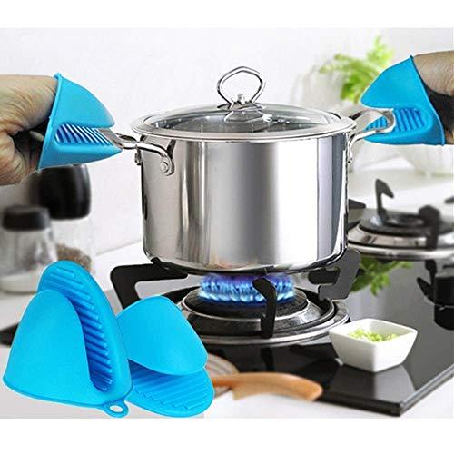 HETASH Silicone Pot Holder Heat Resistant, Oven Mitts Glove Cooking Pinch Grips Glove Hand Clip Convenient Pot Holder…