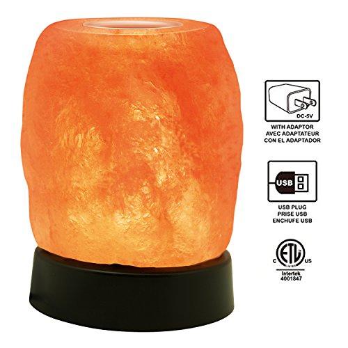 Himalayan Glow 1421 Night Light Natural Himalayan Aroma Therapy Salt lamp, 4 inch, (Platic Base)