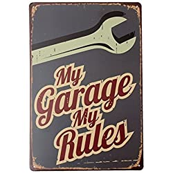 KISSMYTWINS My Garage Tin Sign Vintage Metal Plaque Poster Bar Pub Home Wall Decor