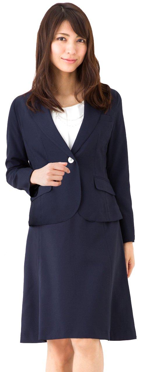 (アッドルージュ) AddRouge スーツ レディース 2点セット ジャケット スカート 洗える 春夏 クールビズ【b5227】 B06Y2W6QX2 15号ABR|ネイビー/ネイビー ネイビー/ネイビー 15号ABR