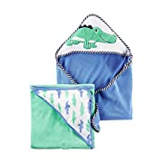 Carter's Baby Boys 2-Pack Alligator Hooded Towels