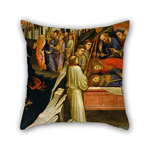 Loveloveu 18 X 18 Inches / 45 By 45 Cm Oil Painting Mariotto Di Nardo - Predella Panel Representing The Legend Of St. Stephen- Devils Agitating The Sea As Giuliana Transpor Pillowcase,two Sides Is
