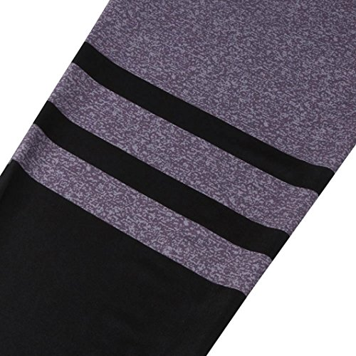 Women Sports Pants Gym Leggings Purple Fitness Trousers Pocciol High Purple Pant Stretch Waist Classical Yoga gxCYCqw