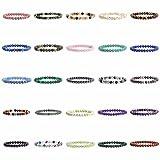 "Justinstones Gem Semi Precious Gemstone 6mm Round Beads Stretch Bracelet 6.5"""