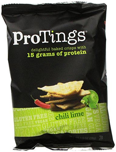 ProTings Protein Chips, Chili Lime, 1 Ounce (Pack of 24)