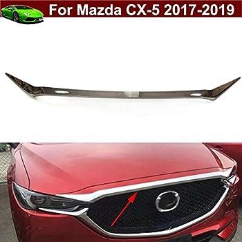 Chrome ABS Front Hood Bonnet Cover Molding Trim For Mazda CX5 CX-5 2017 2018