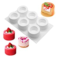 Pudding Cake Silicone Mold-Yawooya 6 Cavities Easter Candle Cup Cake Molds Mousse Baking Muffin Tart Utensil