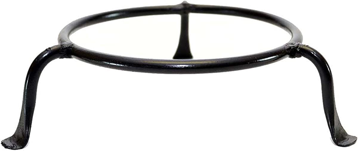 Laredo Import Basic Wrought Iron Display Ring Stand-4.5 Inside Diameter of Ring x 2 High