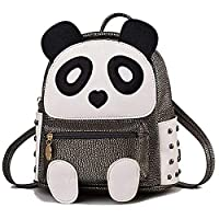 H&N Fashion PU Rivet Bronze Mini Casual Style Panda Backpack/Shoulder/ Book Bag