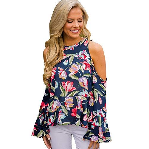 Damen Hohl Blume Spitze T-Shirt Kurzarm Shirt Blusenhemd Oberteile Tops Freizeit