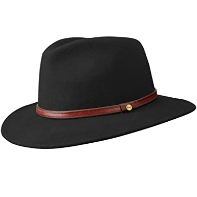 aeb042658590e Stetson Rantoul Wool Felt Fedora Hat at Amazon Men s Clothing store