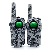 Camo Mini Walkie Talkies for Kids 2 Way Radios 22 Channels and Back-lit LCD Screen Long Range