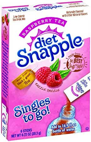 Diet Snapple Singles To Go Raspberry Tea (Pack of 12)