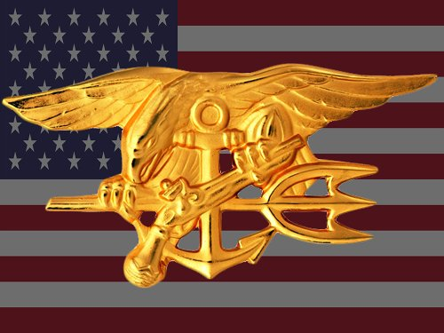 Navy Seal Poster Navy Seal Flag Us Flag American Flag Seal Trident 36X24 (FLAGUSA-18)