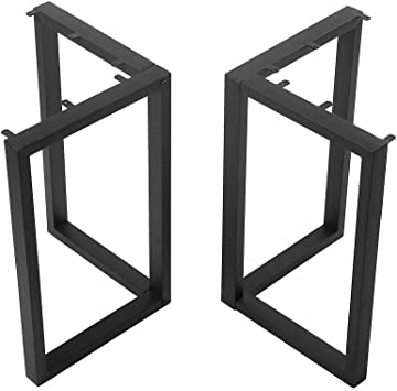 Black Cast Iron Coffee Table Legs Metal Furniture Legs 2 Pcs H28 Xw24 Industrial Dining Table Legs Rustic Duty Square Tube Desk Legs Metal Legs For Diy Coffee Table Furniture Bench