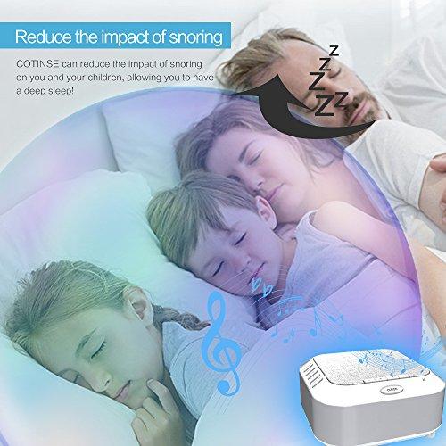 White Machine, Night Light Portable Sleep Sound Travel Toddler Home Privacy
