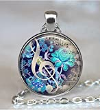 The Color of Music pendant, music necklace music jewelry music jewellery music lover's gift, music teacher gift, music keychain key chain