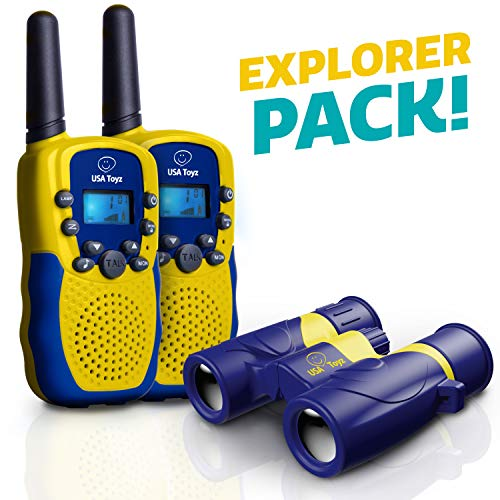 USA Toyz Walkie Talkies with Binoculars for Kids - Vox Box Voice Activated Walkie Talkies for Boys or Girls, Long Range Walkie Talkie Toys Set ()