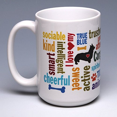 15 oz. Personalize this Ceramic Corgi Coffee/Tea Mug ~ perfect for a dog or pet lover ~ can be ()