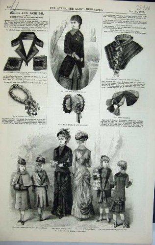 Impresión Antigua de la Corbata del Capo de la Moda de los Trajes ...