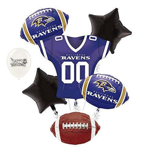 Baltimore Ravens NFL Football Party Balloon Bouquet Bundle