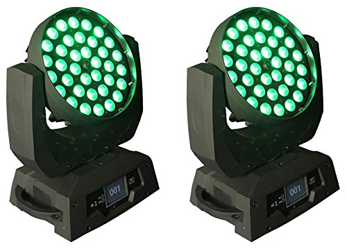 UpLight RGBWA+UV 6in1 36x18w Beam Zoom Led Moving Head Wash For disco, stage show, party