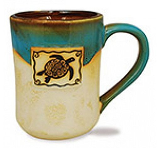 Cape Shore 16 Ounce Stoneware Partial Glaze Pottery Mug (Sea (Pottery Turtle)
