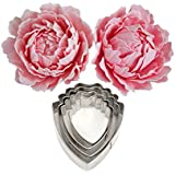 OKUBOX BT11 4pcs Set of Peony Flower Cutter Decor Fondant Cake Cutters for Stainless Steel