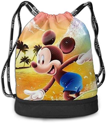 ナップサック ミッキーミニー 巾着袋 巾着バックパック スポーツバック ジムサック 多機能 通勤 運動 人気 旅行 収納袋 小物入れ 防水 おしゃれ かわいい 軽量 乾湿分離 大容量