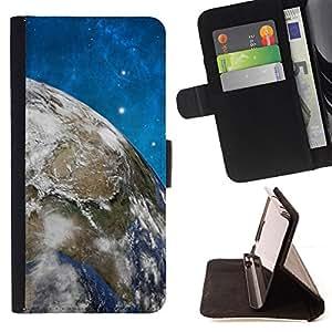 BullDog Case - FOR/Apple Iphone 5C / - / Space Planet Galaxy Stars 58 /- Monedero de cuero de la PU Llevar cubierta de la caja con el ID Credit Card Slots Flip funda de cuer