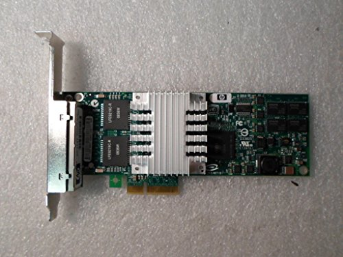 (HP 436431-001 NC364T Quad Port Gigabit Ethernet Adapter Board - Has Four External RJ45 10/100/1000Mb Ports - Requires one Low Profile (or Full Height) x4 PCIe Slot)