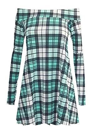 65ede6f9a1db1 Bardot Dress Green Tartan 20 22  Amazon.co.uk  Clothing