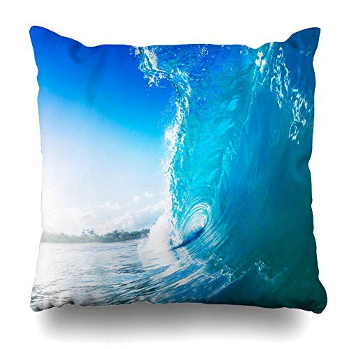 Ahawoso Throw Pillow Cover Square 20x20 Coast Beach