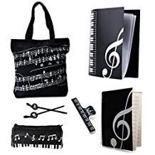 OPOCC Students must have supplies, Music Staff Paper, Pencil Bag,Piano Book Bag, Files Folder,Pencils, Book Clip,Music Art Students Study Set,A set contains six product.