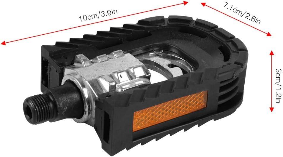 Wallfire p/édales de v/élo 2 pcs en Alliage daluminium VTT de Remplacement p/édales Pliantes roulements antid/érapants Plate-Forme de p/édale en Plein air Accessoire de v/élo