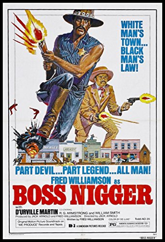 Boss Nigger Fridge Magnet Fred Williamson Classic Movie Poster Canvas Print 2.5 x 3.5