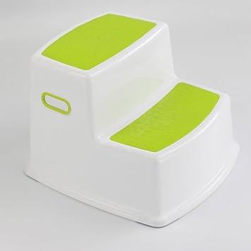 Escaleras plegables Taburete para niños 2 Pasos Lavabo Banco para bebés Baño Antideslizante Taburete para pies Plástico (Color : Verde): Amazon.es: Electrónica