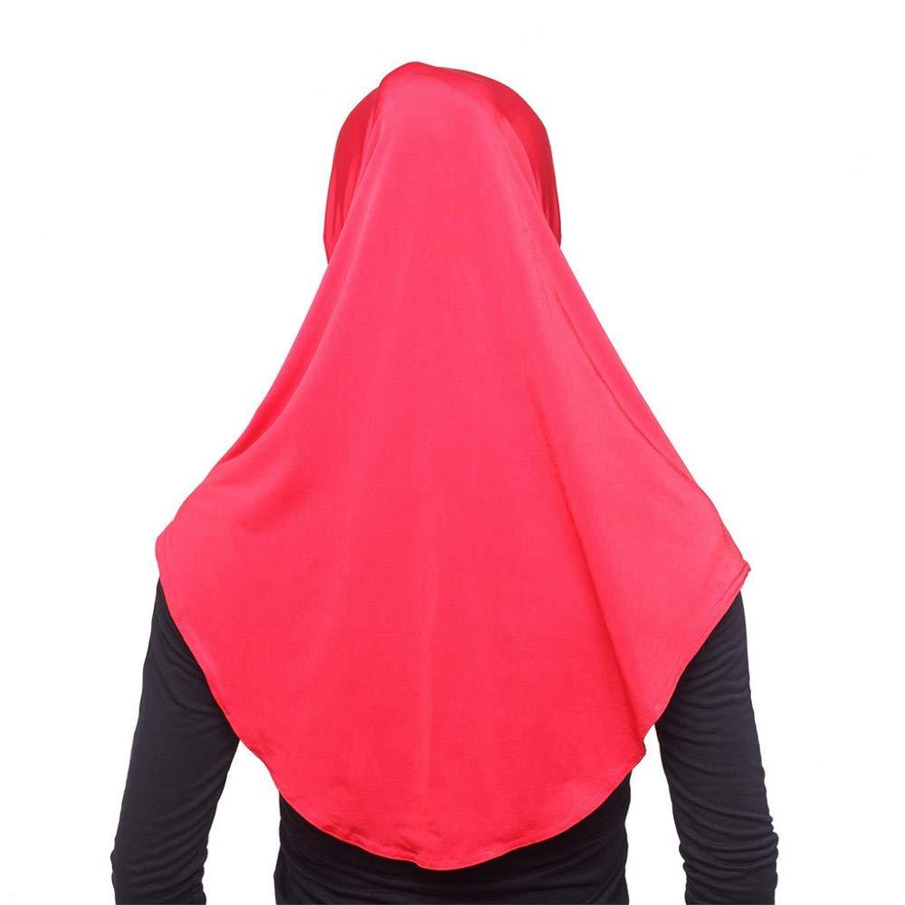 Damen Hijab Kopftuch Strecken Kopft/ücher Muslim Schals Halstuch Baumwolle Turban Elegante Frauen Headscarf Islamischen Gesichtsschleier Chemo Cap Wrap Kopfbedeckung Lose Bandana M/ütze