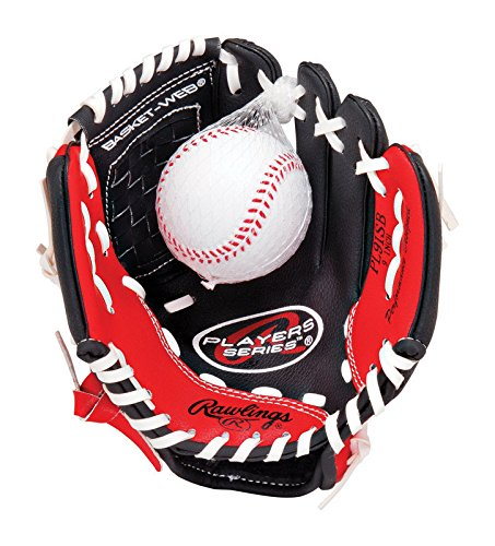 (Rawlings Players Series Youth T-Ball Glove, Regular, Basket-Web, 9 Inch)